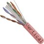 Bulk Category 6 UTP CMR Rated Cable 1000 FT Pink