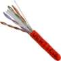 Bulk Category 6 Cable CMR Rated 1000 FT Red