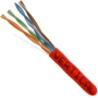 Bulk Category 6 Stranded UTP Cable CMR Rated Red