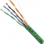 Bulk Category 6 Stranded UTP Cable CMR Rated Green