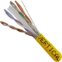 Bulk Category 6 Cable CMR Rated UTP 1000 FT Yellow