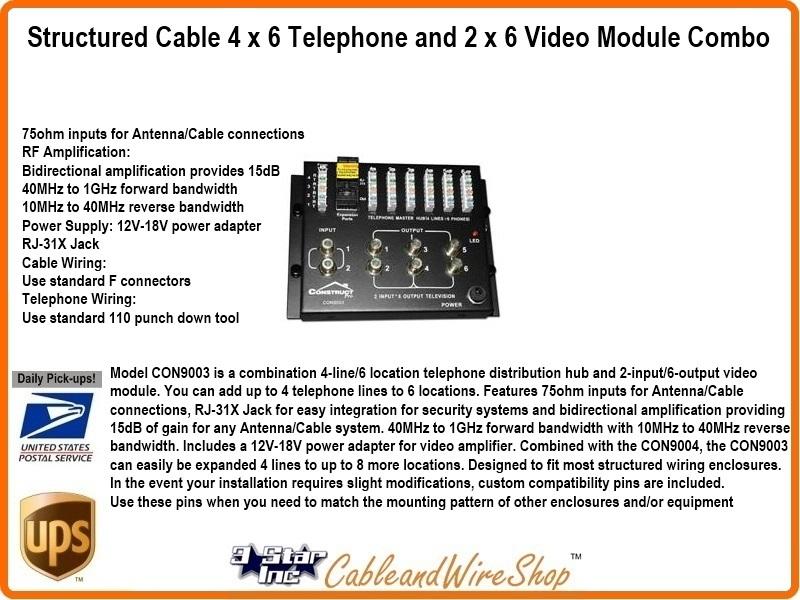 4 X 6 Telephone And 2 X 6 Broadband Amplifier Combination