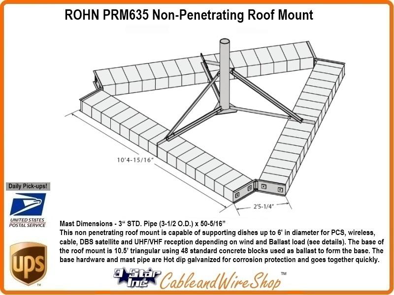 Rohn R Prm635 Non Penetrating Roof Mount