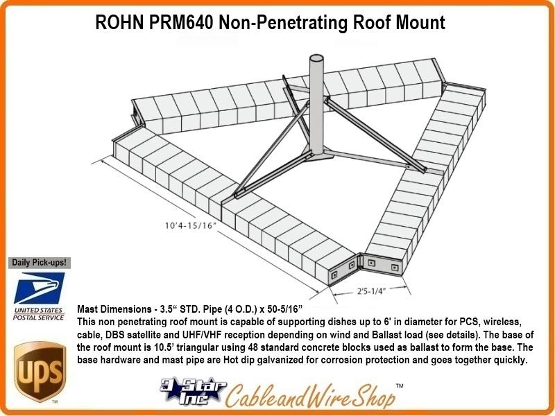Rohn R Prm640 Non Penetrating Roof Mount