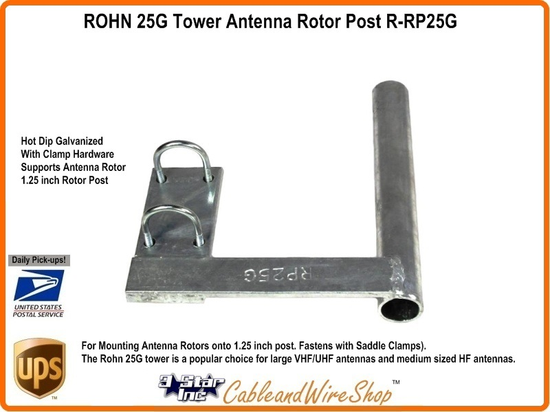 Rohn R Rp25g 1 25 Inch Antenna Rotor Post For 25g Tower