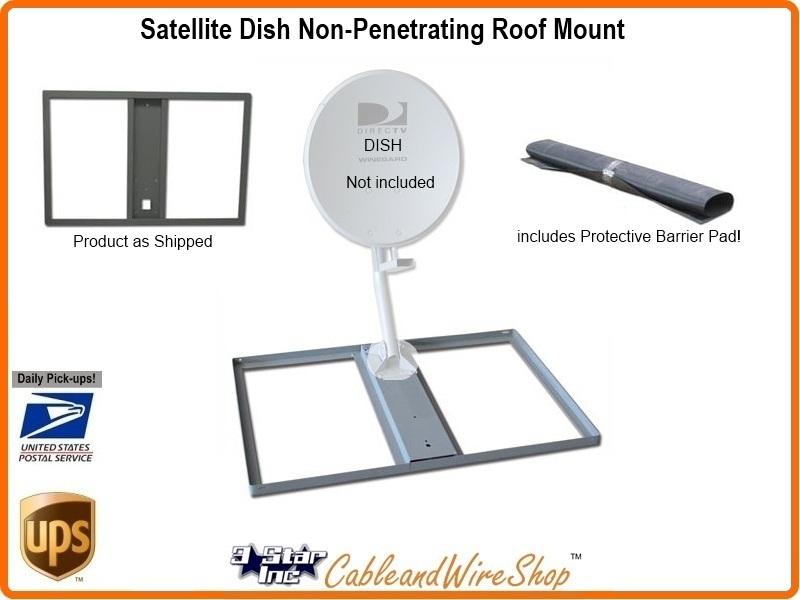 Satellite Dish Non Penetrating Low Profile Roof Mount