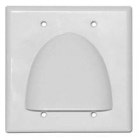 Horn Hood Opening Bundled Cable Wall Plate Double Gang White/Black/Ivory/Almond