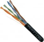 Cat6 Stranded Ethernet Cable CMR Rated UTP Black 1000 FT