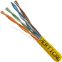 1000 FT CAT5e Network Cable Solid CMR Riser in Yellow