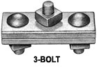 J931 3 Bolt Down Guy Clamp