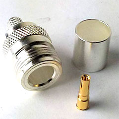 UHF Silver N Female 240 Connector for 50 Ohm Coaxial Cable.