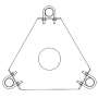 ROHN 25G Thrust Bearing Accessory Shelf AS25GTB CAD Drawing