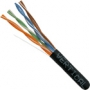 Cat5e Ethernet Cable UTP CMR Riser 1000 FT Black