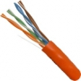Cat5e Ethernet Cable UTP CMR Riser 1000 FT Orange