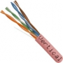 1000 FT CAT5e Network Cable Solid Conductor Pink