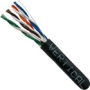 Black 1000' FT Stranded CAT5E Ethernet Cable CMR UTP