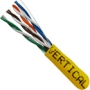 1000 FT Yellow Stranded PVC CAT5e Network Cable