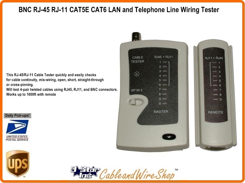 Rj45 Rj11 Continuity Tester Cat3 Cat5e Cat6 Wiring Checker Adv1007