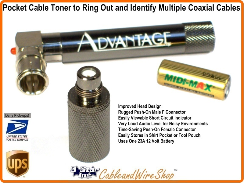 Pocket Coaxial Cable Tester Toner Ringer Advpt2