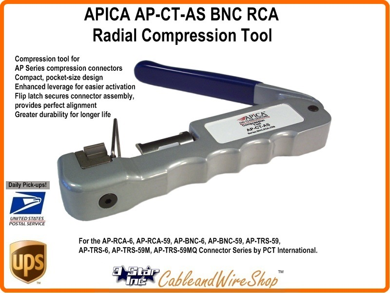 APICA AP-CT-AS BNC RCA Radial Compression Tool
