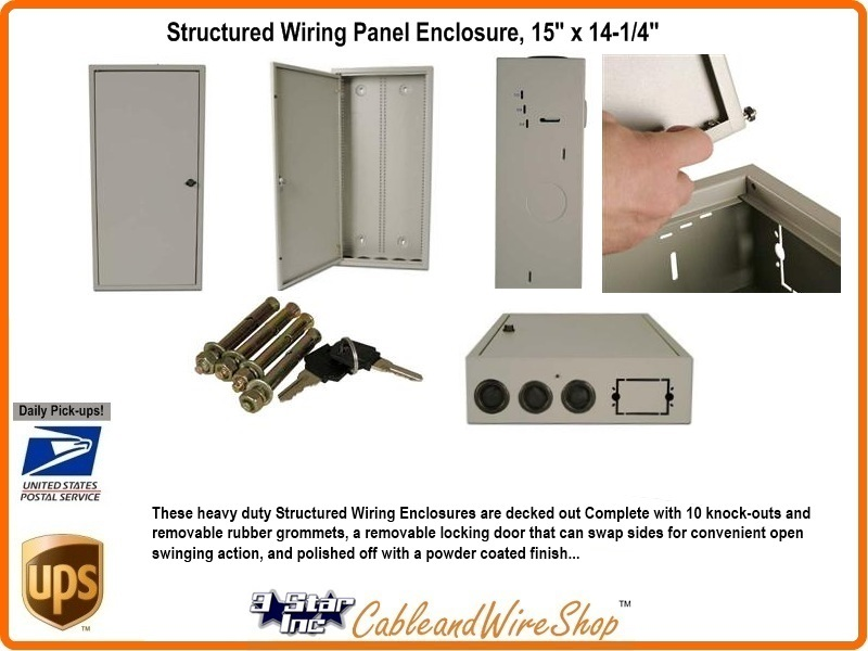 Structured Wiring Network Wall Panel Enclosure 29 X 14 4