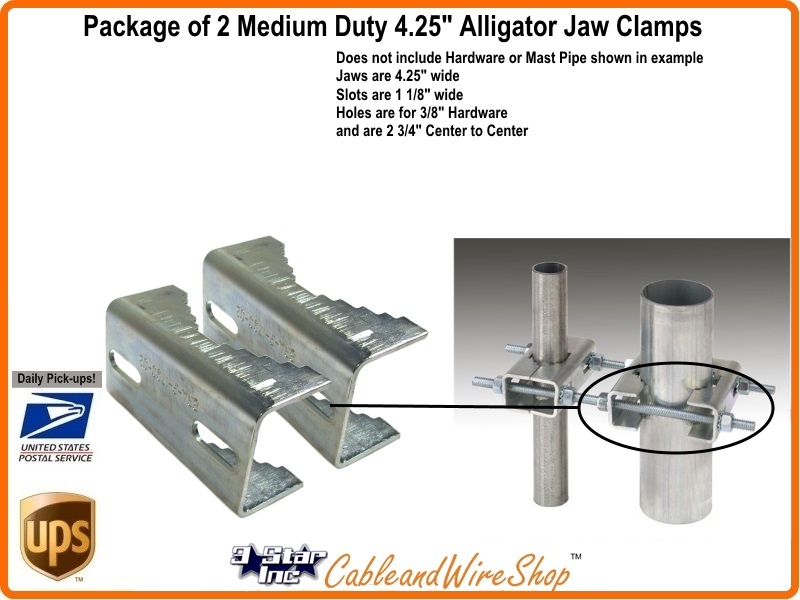 Clamp Jaws For Mast Pole Mount Medium Duty Ez Hd Ptp 4s