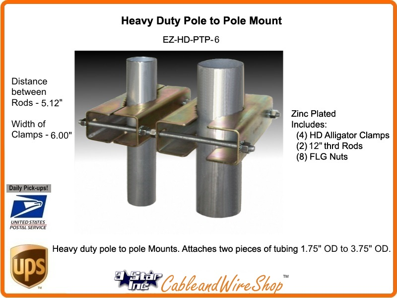 Pole To Pole Antenna Mast Mount Heavy Duty Ez Hd Ptp 6