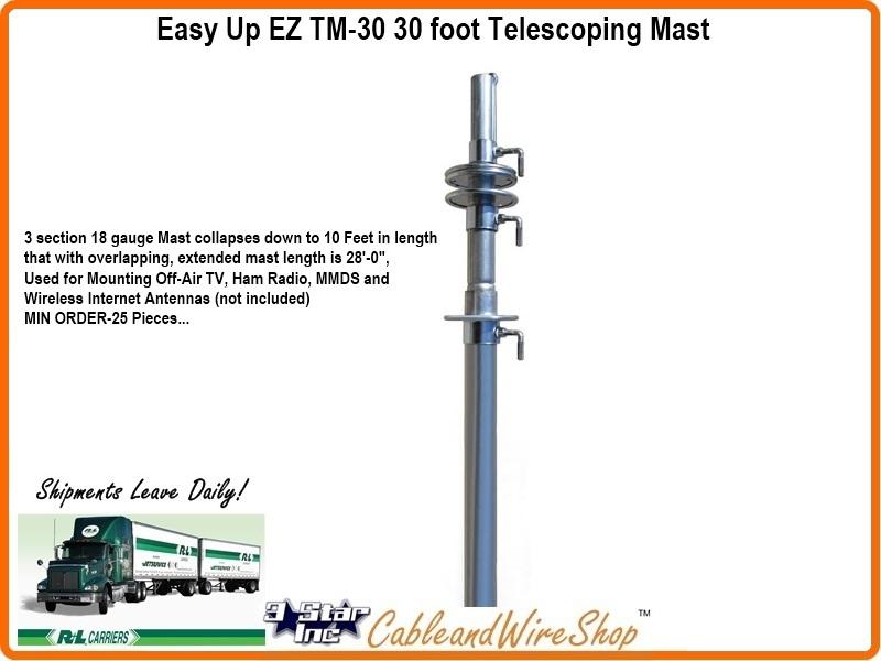 EZ TM-30 Telescopic Antenna Push Up TV & Wireless Internet Antenna
