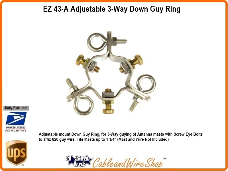 Antenna Mast 1 25 Od Ring Clamp 3 Way Guy Assembly Ez 43 A