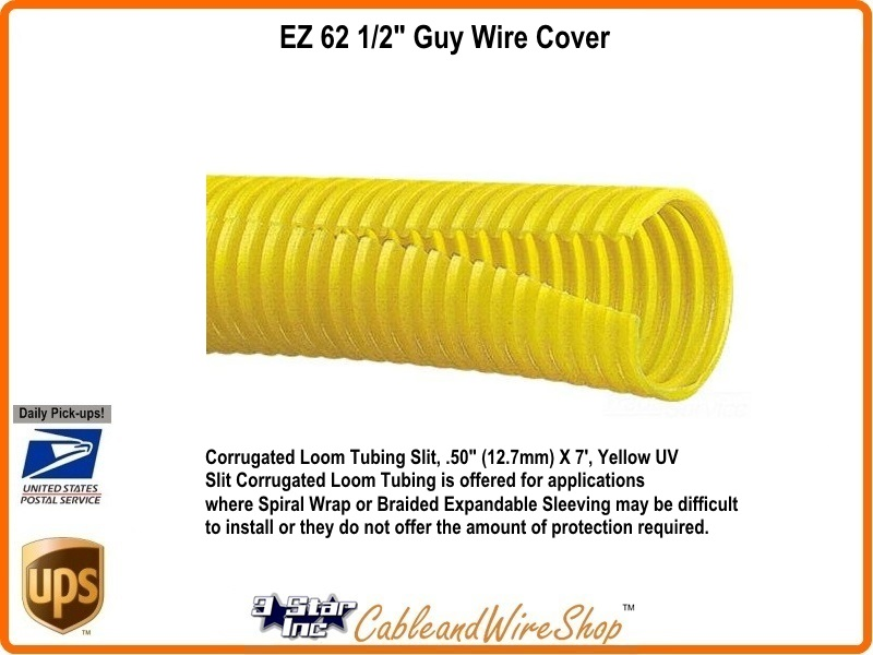 Guy Wire Cover Down Guy Guard Marker 1 inch 7 ft Tubing EZ 62A