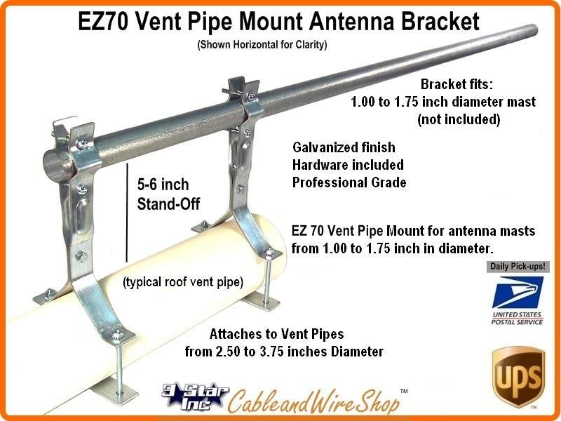 Antenna Mast Vent Pipe Mount Bracket 2 5 3 75 Od Ez 70