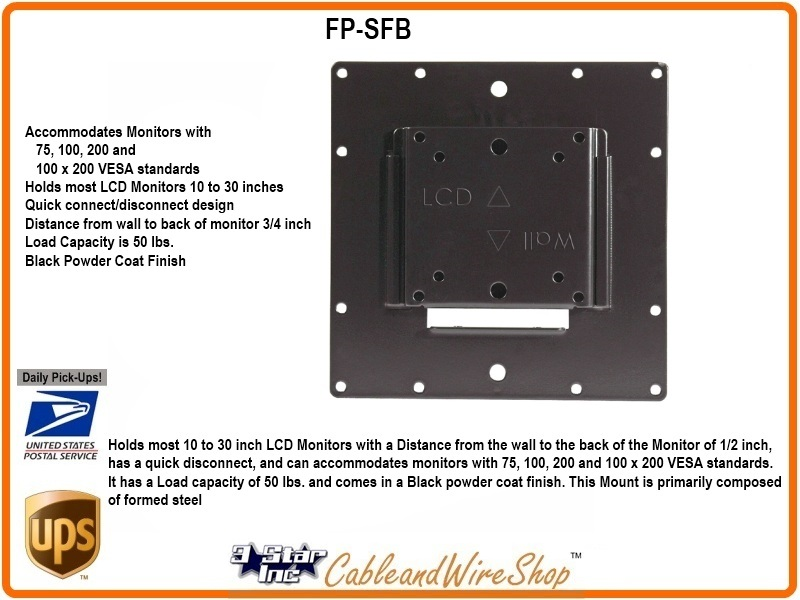 Small Flat Panel Monitor Flush Wall Mount 10 30 Inch Vmp
