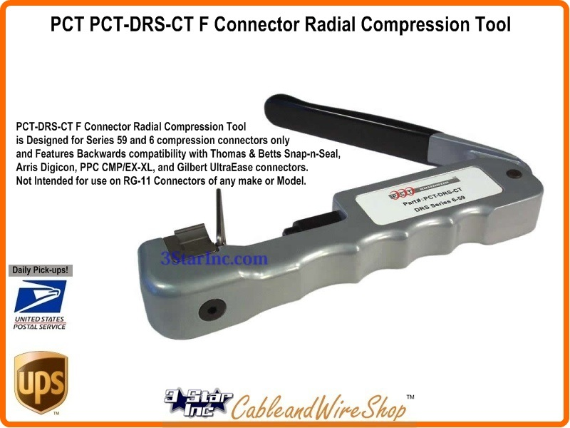 Rg59 Rg6 Rg11 F Connector Radial Compression Tool Pct Pct