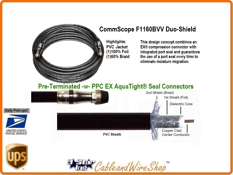 175 Ft Rg11 Coaxial Cable For Satellite Tv Antenna Short