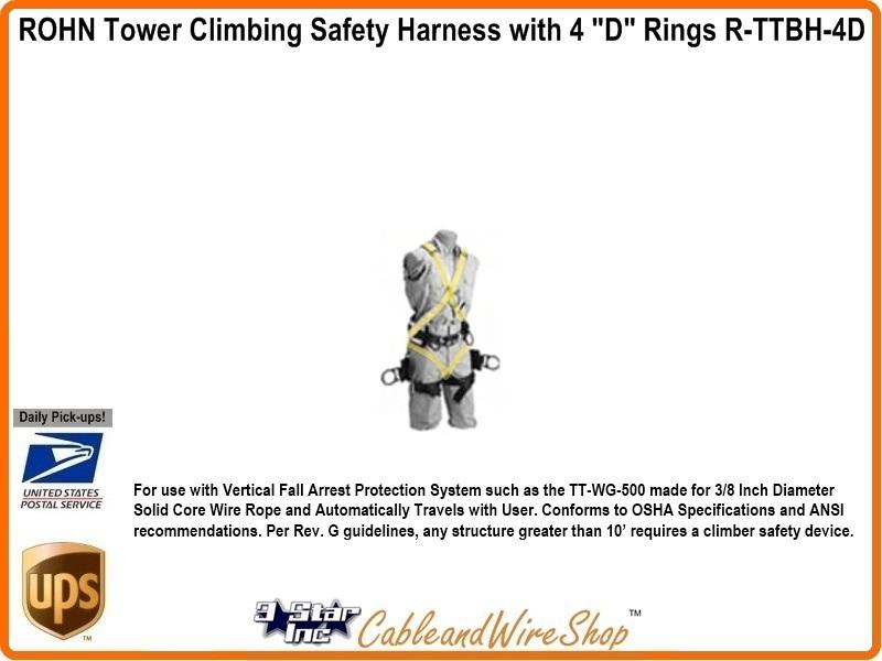 ROHN TTFBH-4D TUF TUG Journeyman Tower Climbing Harness
