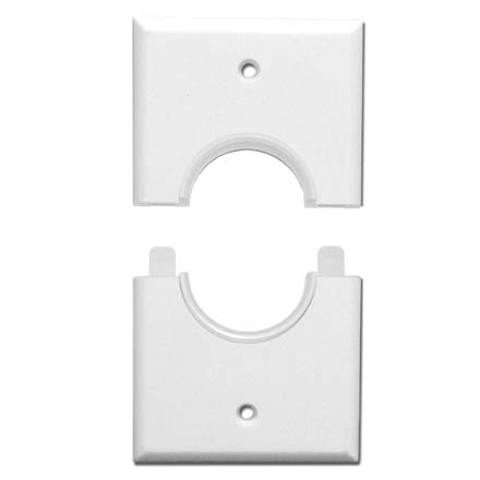 Wall Plate 1 3 8 Inch Split Opening Single Gang White