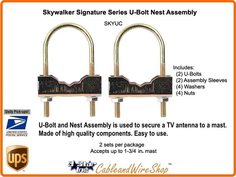 U bolt clamp mount to mast pole pack nest assembly kit skyuc
