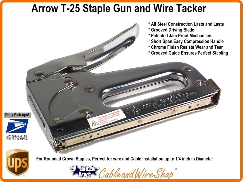 Arrow Fastener Stapler T25 Staple Gun and Wire Tacker
