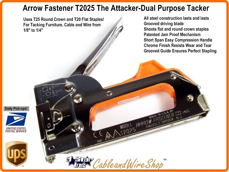 Arrow Fastener T2025 Dual Purpose Staple Gun and Wire Attacker