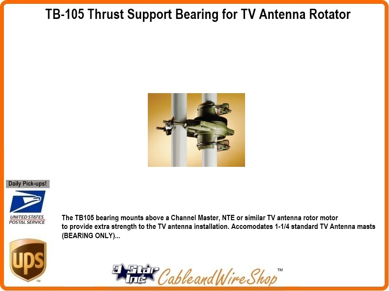 TB-105 Thrust Bearing for TV Antenna Rotator Support
