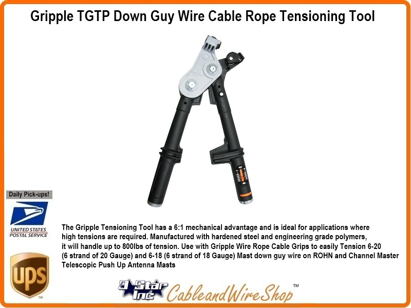 Gripple Tensioning Tool for Antenna Mast Guy Wire Rope Grip TGTTP