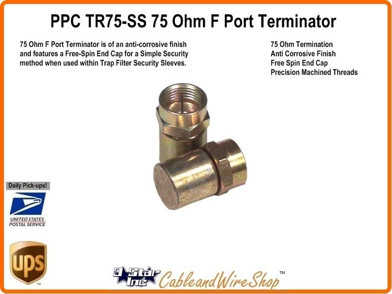 Ppc Tr75 Ss 75 Ohm F Security Port Terminator