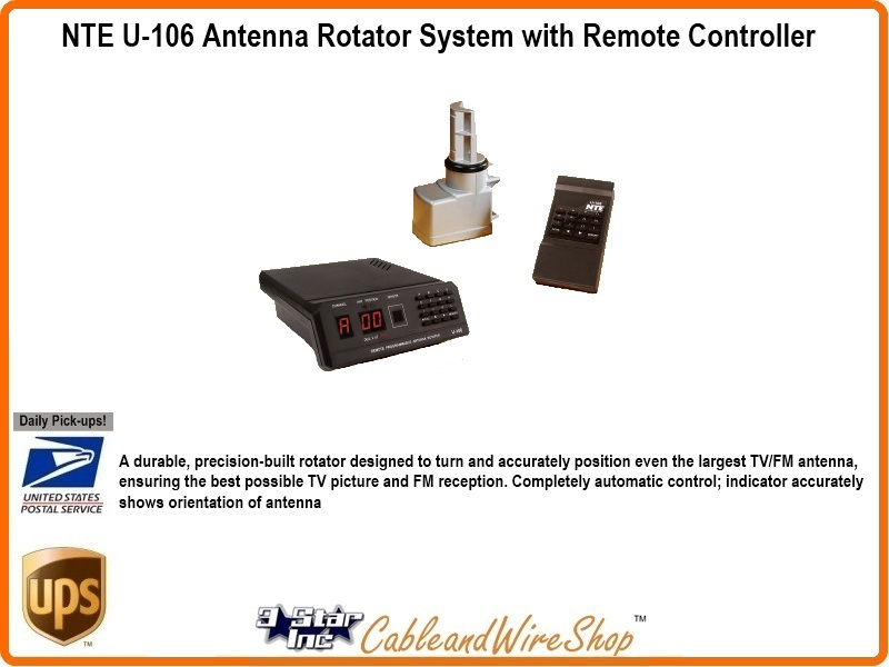 NTE U-106 Antenna Rotator System with Remote Controller